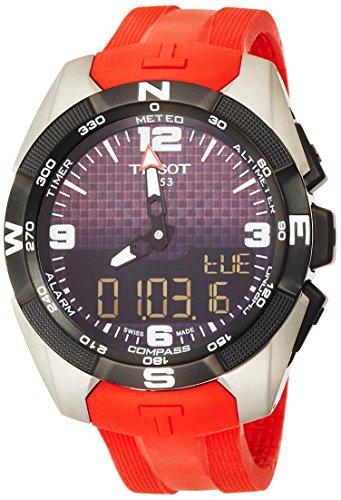 Tissot Herren-Uhren Analog Quarz, Solar One Size Rot 32002070