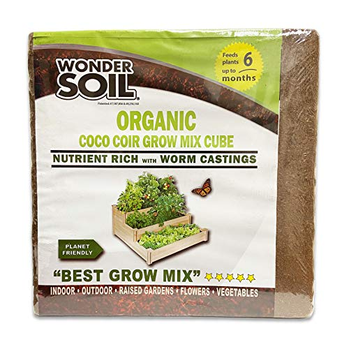 Wonder Soil | Premium Organic Coco Coir Brick | Only Compressed Coco Coir with Nutrients |...