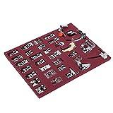 Juego de prensatelas para coser 32PCS - Juego de prensatelas para máquina de coser con manual en inglés, Prensatelas para máquina de coser doméstica con ranuras de almacenamiento