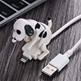 Funny Humping Dog Fast Charger Cable Stray Dog Charging Cable Suitable Smartphone USB Charging for Various Models of Mobile Phones Type-C Portable (White,for Apple)