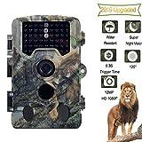 BESTSUGER Caméra Jeu, Trail Caméra Jeu avec 46PCS lumière, 12MP caméras de Chasse avec 120 ° Plage Détection et IP56 étanche pour la Faune extérieure Watching