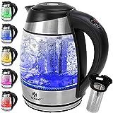 KESSER® Wasserkocher 1,8L Edelstahl mit LED...