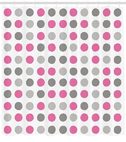Geometrischer Duschvorhang Polka Dots Motive Print für Badezimmer