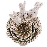 VALICLUD Set di Cestini per Uova di Pasqua 3 Pezzi Cestello per Alimenti in Bambù Intrecciato con Coniglietto Bambola Coniglietto Porta Articoli Vari Decorazione Della Casa per Caccia Alle