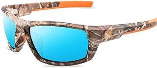 QPRER - Gafas De Sol,Azul Gafas De Sol con Montura De Camuflaje Verano Unisex Street Shopping Gafas Anti-UV Niñas Fiesta En La Playa Lente Hombres Lentes De Escalada De Montaña Regalo para El Día De S