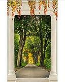 Vinilo Puerta Arcos, Bosques, Avenidas Vinilo Puerta Fotomurales 88X200Cm