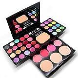 Paleta de Sombras de Ojos 39 Colores de Maquillaje Set Kit de Cosmético - Incluye sombra de ojos y Corrector Camuflaje y Polvo compacto y Rubor polvo y Brillo labios