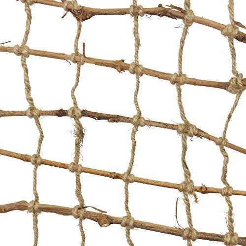 FRANK FLECHTWAREN Deko-Gitter, Reisigstäbe mit Hanfschnüren, Maße: 150 x 25 cm