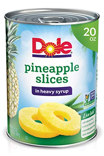 Dole, Pineapple Slices in Heavy Syrup, 20oz