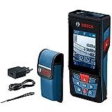 Bosch Professional Medidor láser de distancia GLM 120 C (cámara integrada, transmisión de datos Bluetooth, máx. distancia:120 m, cable micro USB, cargador, correa de transporte, funda)