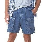 Savane Men's UPF 30 Comfort Hiking Cargo Shorts w/Tech Pocket (44, Denim)