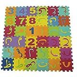 0Miaxudh Kinder Puzzlematte, 90cm Russisches arabisches Alphabet Kinderteppichschaum Eva Shaggy Puzzle Krabbelmatte Arabic Letters -