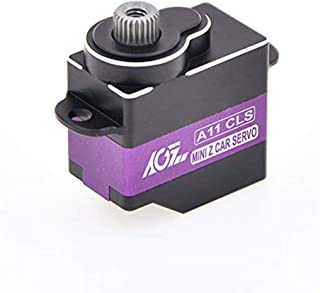 AGFrc Mini-Z-Car Micro Steering Servo - 11g High Speed Full Metal Gear Mini Digital Coreless Servo for Mini Z Car, Control Angle 180° (A11CLS)