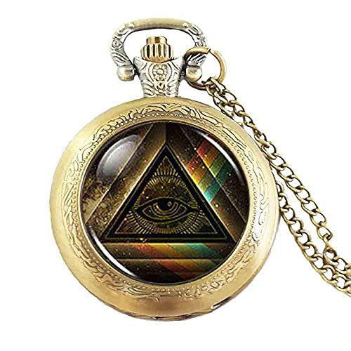 Vintage Masónico Masón Masón Illuminati Colgante Reloj De Bolsillo Satanismo Cadena Dr Who 1 Unids / Lote Steampunk Mujeres Hombres