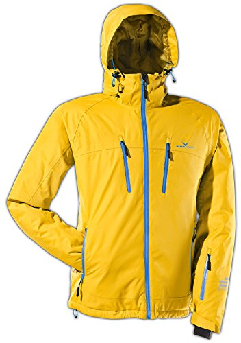 Black Crevice Herren Ski- und Snowboardjacke, gelb/blau, 54, BCR251003