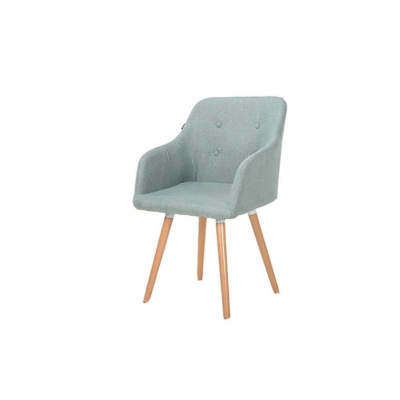 私たち自身メイン目立つヨーロッパの椅子の肘掛け椅子の純木のダイニングチェアのヨーロッパ式のラウンジチェアの現代ミニマリストの生地のレストランの椅子の快適および耐久 GMING (色 : C)
