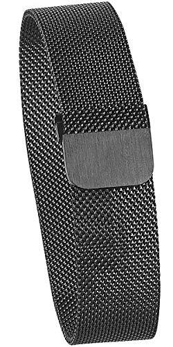 newgen medicals Ersatzarmband: Milanaise-Armband für Uhren mit 20-mm-Steg, Magnet-Verschluss, schwarz (Uhrenarmband mit Magnetverschluss)