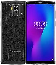DOOGEE N100 10000mAh Batería Teléfono Móvil Libre, Carga Inalámbrica, 5.99 Pulgadas FHD + Smartphone Android 9.0, Cámara 21MP + 8MP, Helio P23 Octa Core 4GB + 64GB, GPS NFC Dual SIM Diseño de Cuero