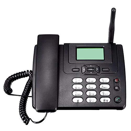 Elikliv Teléfono Inalámbrico de Escritorio con Tarjeta de GSM/SIM, Fijo-móvil de Hogar con Radio FM, Radioteléfono Montaje en Pared