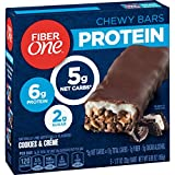 Fiber One Protein Chewy Bars, Cookies and Crème, 5 ct