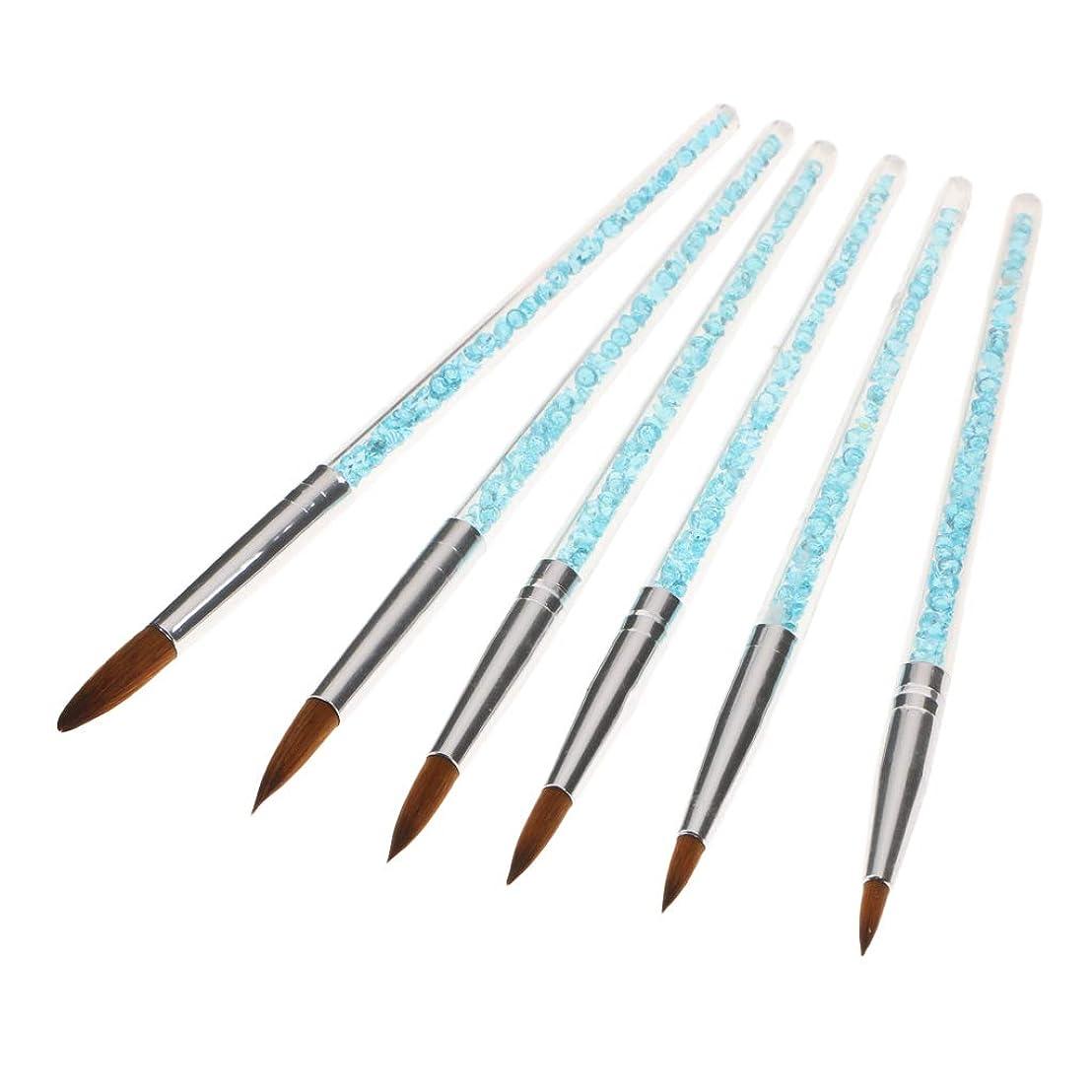 スティック不快小さいB Blesiya 6個 ネイルアートペン ネイルブラシ ファッション DIY uvゲル