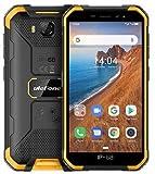 Ulefone Armor X Télephone Portable Incassable Pas Cher, IP68 Résistant Smartphone Android 9.0, Double SIM, 2 Go + 16 Go, 5MP+8MP, Batterie 4000 mAh, Écran 5 Pouces, Visage Déverrouillé GPS Orange