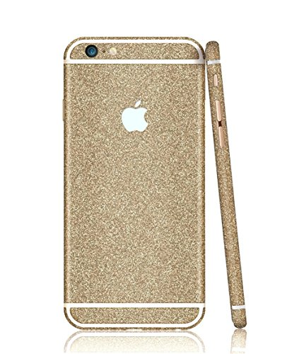 TheSmartGuard Glitzerfolie kompatibel für Apple iPhone 6 Plus-6S Plus Folie Schutz Glitzer Glitter Bling Bling im funkelnden Gold