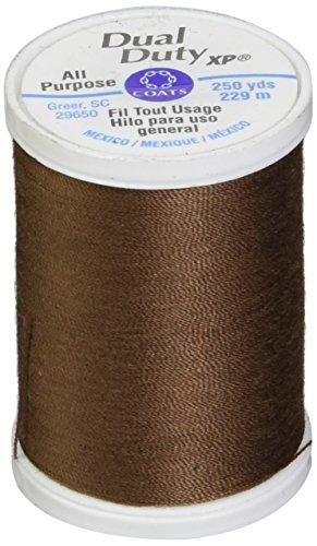 Coats: Thread & Zippers Dual Duty XP General Purpose Thread, 250-Yard, Brown Chestnut