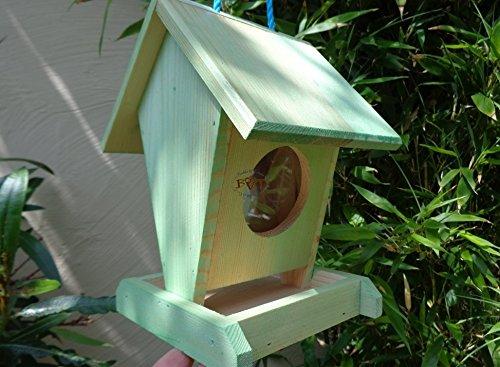Futterhaus BTV-VOFU1K-moos001 PREMIUM Vogelhaus Futterstation XXL moosgrün grün für Nützlinge Biogarten, als Ergänzung zum Meisen Nistkasten Meisenkasten oder zum Insektenhotel, für Vögel, Vogelhäuschen / Vogelvilla zum Hängen und Aufstellen von BTV - 3