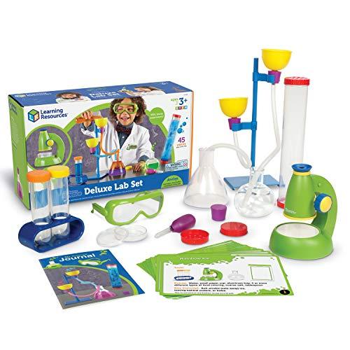 Learning Resources Set de laboratorio de lujo de ciencia de primaria, 45 piezas