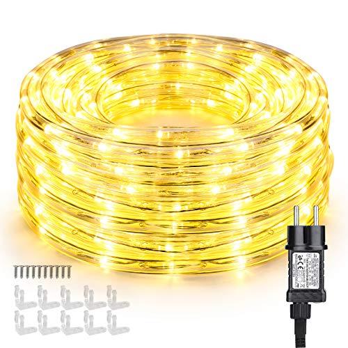 Manguera de Luces Exteriores, BrizLabs 10m 240 LED Cadena de
