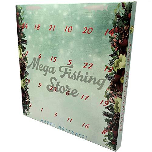 Mega Fishing Angler Adventskalender - Angel Tackle & Zubehör Weihnachtskalender - Advents Raubfisch Kalender
