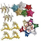 Party Hub 30 pcs Christmas Tree Decoration Ornaments Set of 30 Pcs