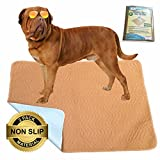 """Hiyapup Washable Pee Pads for Dogs, 2-Pack, Large (36""""x42""""), Premium Super Absorbent & Non-Skid Reusable Puppy Pad, Whelping Pad, Senior Dog Incontinence"""