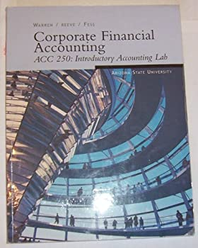 Paperback Corporate Financial Accounting ACC 250: Introductory Accounting Lab Book
