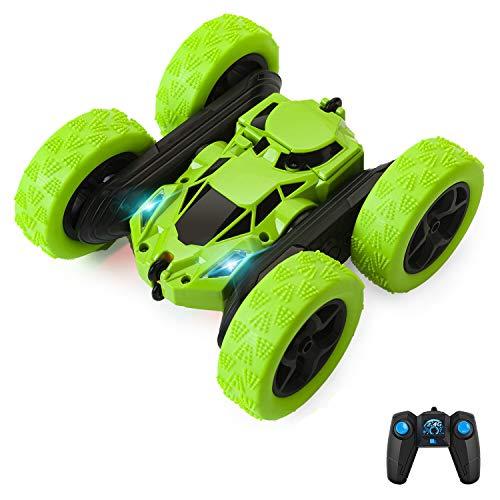 EFO SHM Ferngesteuertes Auto 4WD RC Stunt Auto 2,4 Ghz Fernbedienung mit Akkus High Speed Buggy Auto Spielzeug Outdoor und Indoor für Jungen Mädchen, Grün