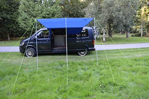 Wild Earth Sun canopy awning for VW Camper Van motorhome 2.4 Metres x 3metres Royal Blue