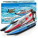 ZHJ 2,4 GHz Fernbedienung Boot Simulation Speedboat Modell Radio-Toy Racing 4-Kanal-High-Speed-Schwimmbad See Ferngesteuerte Spielzeuge (Color : Blue)