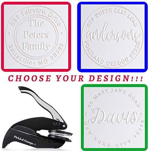 Address Embosser Seal Stamp Personalized Customized Monogram Wedding Invitiations 1 x 5/8