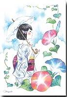 夏のイラストポストカード 「朝顔」 ゆかた絵葉書 暑中見舞い