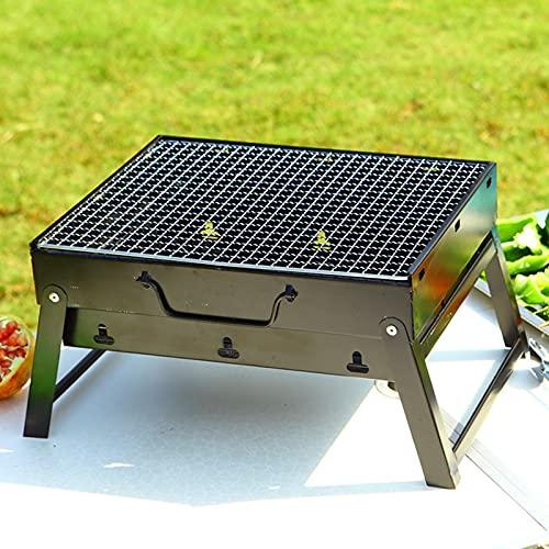 51zsvhx+TJS. SL500  - Jiaojie Holzkohlegrill für den Haushalt, zusammenklappbar, tragbar, Einweggrill, für den Außenbereich, schwarzer Stahlofen