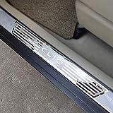 N/A 4 Pezzi Soglia Porta Battitacco, per Renault Clio IV Clio 4 2014-2020 Auto Pedale Calci Scuff Benvenuto Threshold Bar Striscia Protezione Accessori Decorativi, Acciaio Inossidabile