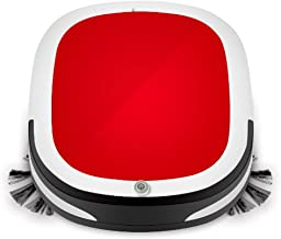 GHXX Home Automatic Vacuum Cleaner Robot with Max Power Suction, for Home Dry and Wet Mopping Smart Sweeper Robot to Prevent Collision Self-Charging for Hard Surface Floors & Thin Carpets X081,Red