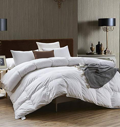 Bamboo Organic 100% Cotton Duvet Quilt 13.5 Tog Deluxe Luxury Natural Hypoallergenic | Best Hotel Quality | Super Soft | Warm and Cosy | Anti Allergy | Self-fabric piping (Double: (200x200cm))