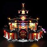 MAJOZ0 - Kit de iluminación para monasterio Lego Ninjago de Spinjitzu, juego de luces LED compatible con LEGO 70670 (no incluye modelo Lego)