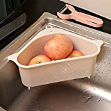 MUY Fregadero de Cocina Triangular Canasta de Drenaje Fregadero Canasta de Almacenamiento de Basura Canasta de Lavado de plástico Caja de Recuerdos de
