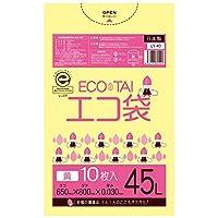 45L 黄ごみ袋【厚さ0.03mm】600枚入り【Bedwin Mart】