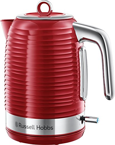 Russell Hobbs 24362 Inspire Electric Kettle, 3000 W, 1.7 Litre, Red with Chrome Accents