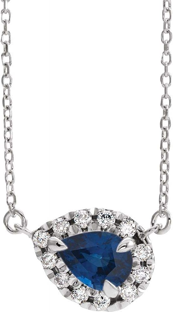 Solid 14k White Gold Manufacturer direct delivery Arlington Mall Solitaire Created 6 Sapphire and Blue 1 Ctt