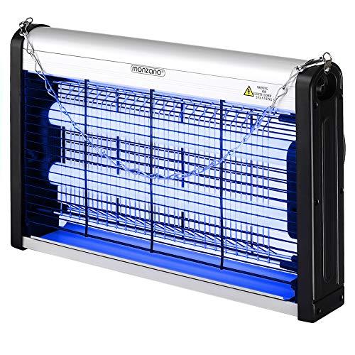 Monzana Lámpara Mata Mosquitos 12W con Luz UV 25m² Potente Mata Insectos Anti Mosquitos Mosquitero eléctrico Alta Seguridad